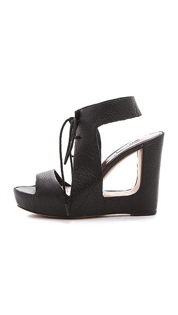 Matiko Elena Cutout Wedge Sandals