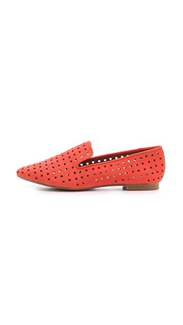Matiko Lilo Suede Perforated Loafers