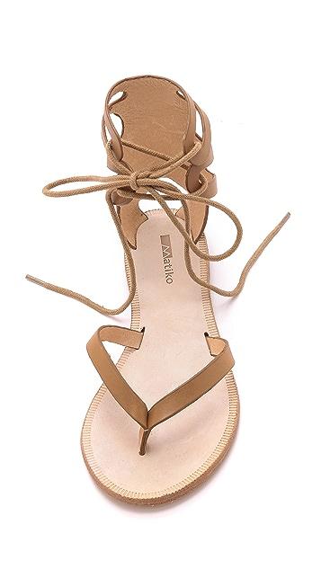 Matiko Eldora Lace Up Gladiator Sandals