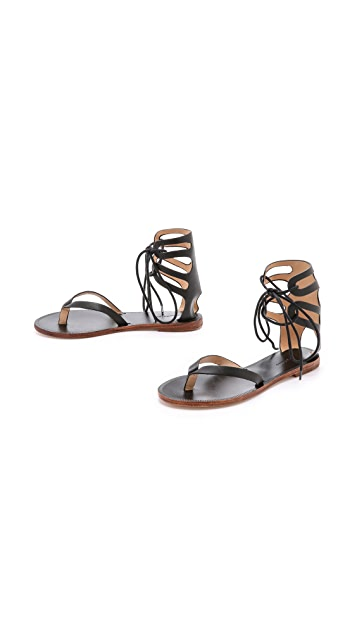 Matiko Eldora Lace Up Gladiator Sandals