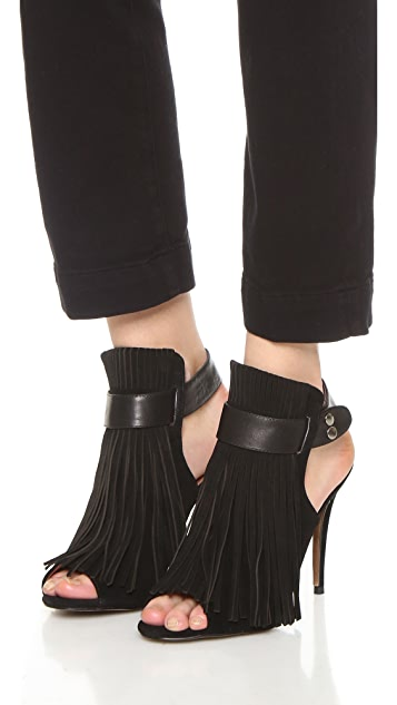 Matiko Lainey Open Toe Booties