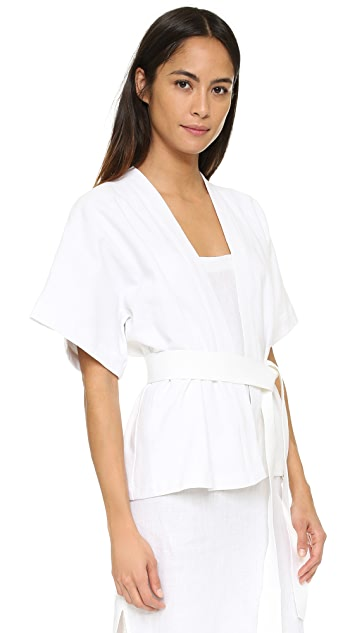 MATIN Wrap Top with Belt