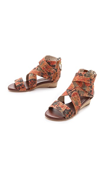 Matt Bernson Delphine Cork Wedge Sandals