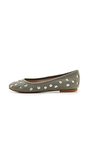 Matt Bernson Stripes & Sequins x Matt Bernson Mulberry Polka Dot Flats