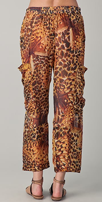 Matthew Williamson Escape Leopard Papillon Utility Pants