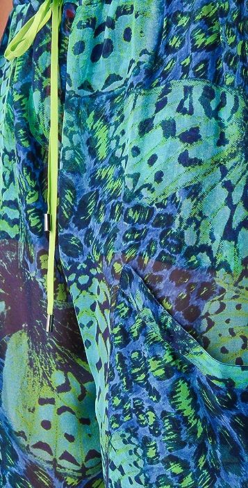 Matthew Williamson Escape Leopard Papillon Jumpsuit
