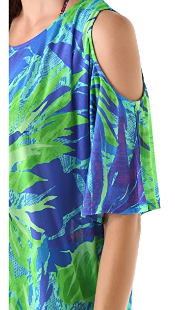 Matthew Williamson Escape Animal Leaf Cutout Cover Up