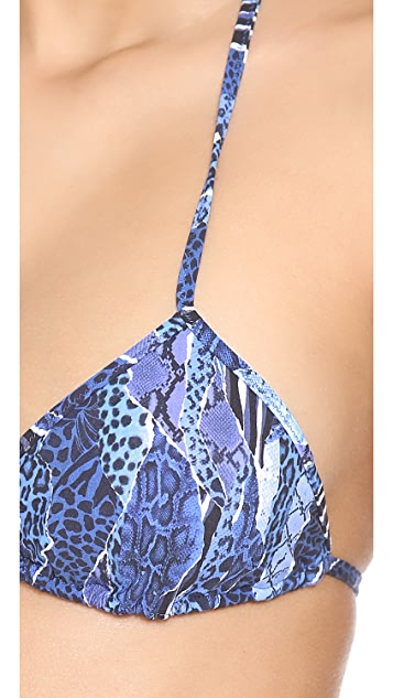 Matthew Williamson Escape Exotic Camo Triangle Bikini