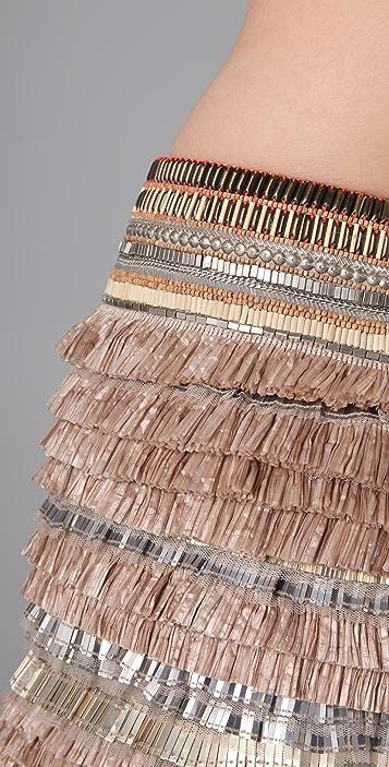 Matthew Williamson Fringed Skirt