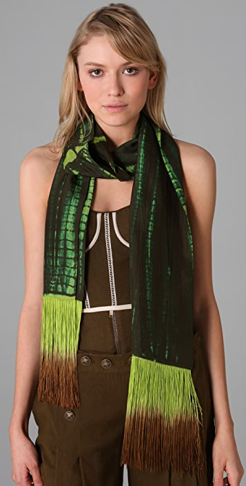 Matthew Williamson Python Tie Dye Scarf