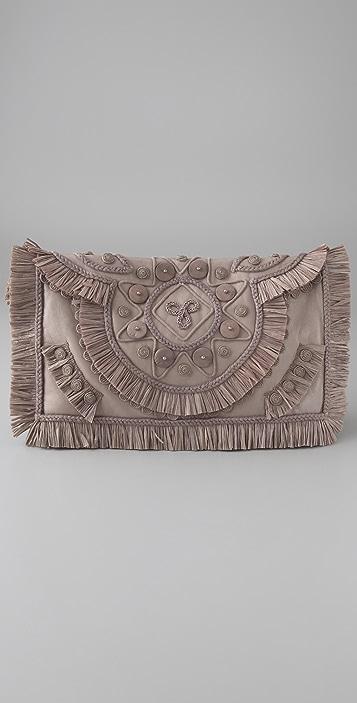 Matthew Williamson Raffia Leather Clutch