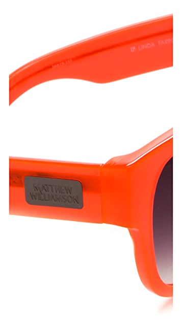 Matthew Williamson Curved Square Sunglasses