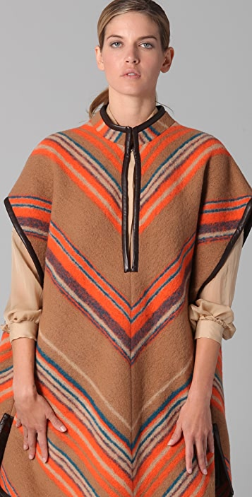 Matthew Williamson Blanket Striped Poncho