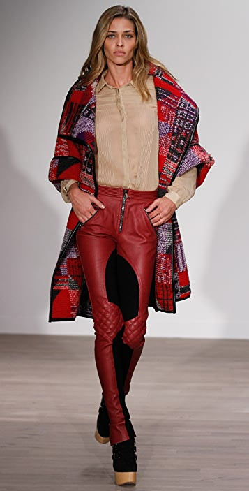 Matthew Williamson Biker Blanket Wrap Coat
