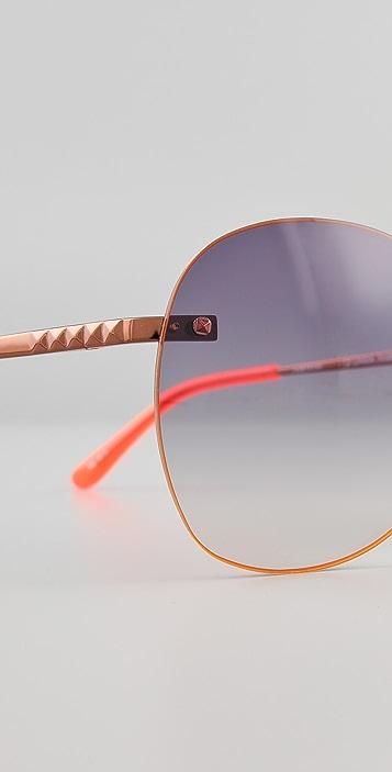 Matthew Williamson Neon Rim Sunglasses
