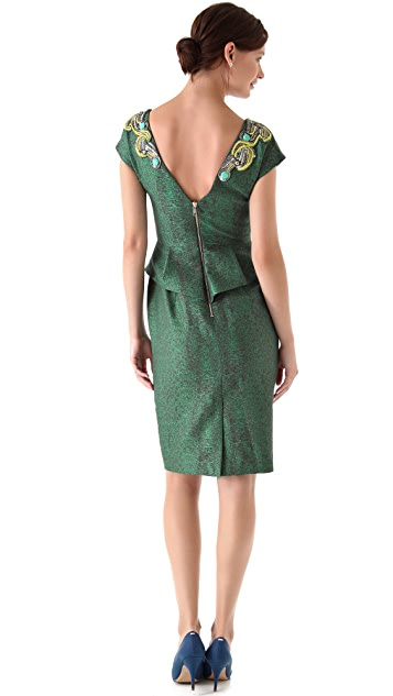 Matthew Williamson Beaded Peplum Dress