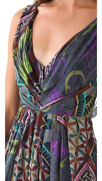 Matthew Williamson Tile Print Gown