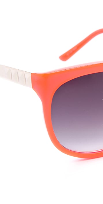 Matthew Williamson Neon Oversized Sunglasses