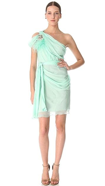 Matthew Williamson One Shoulder Silk Dress