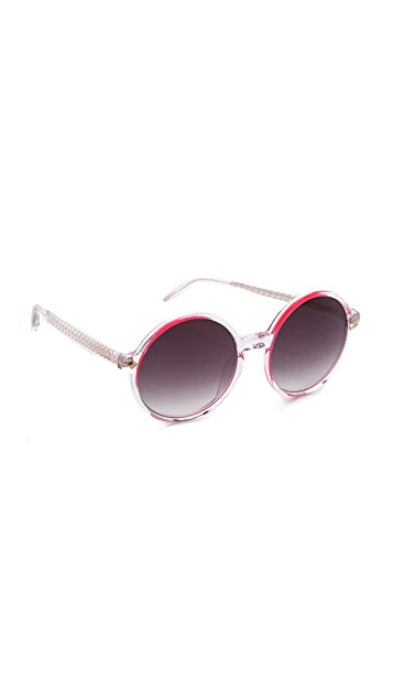 Matthew Williamson Transparent Round Sunglasses