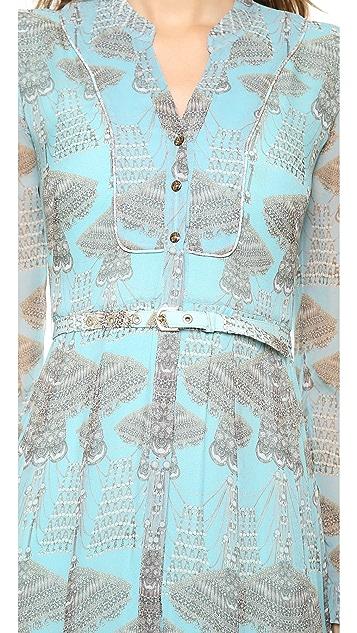 Matthew Williamson Godet Maxi Dress with Belt