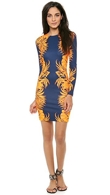 Matthew Williamson Leaf Print Jersey Dress