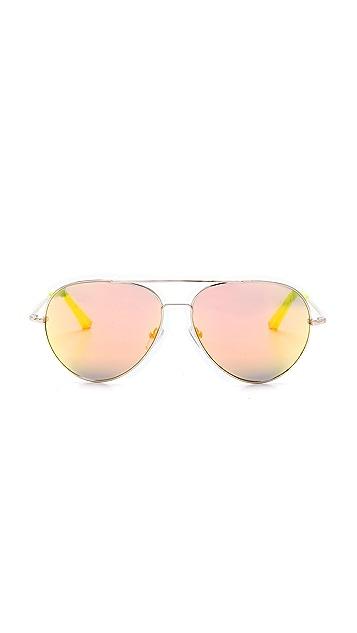 Matthew Williamson Mirrored Aviator Sunglassess