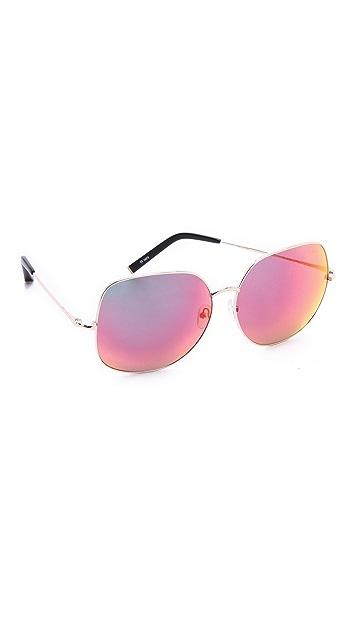 Matthew Williamson Mirrored Oversized Sunglasses