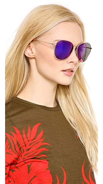 Matthew Williamson Mirrored Revo Sunglasses