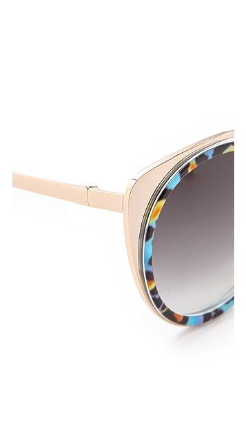 Matthew Williamson Printed Cat Eye Sunglasses