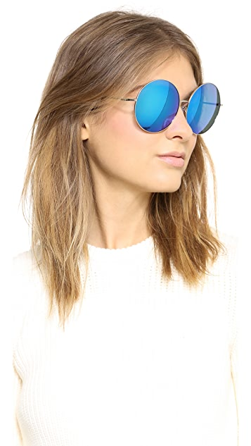 Matthew Williamson Round Mirred Sunglasses