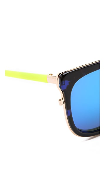 Matthew Williamson Mirrored Sunglasses