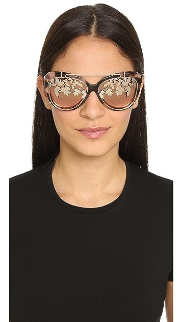 Matthew Williamson Солнцезащитные очки Ivy со съемными линзами