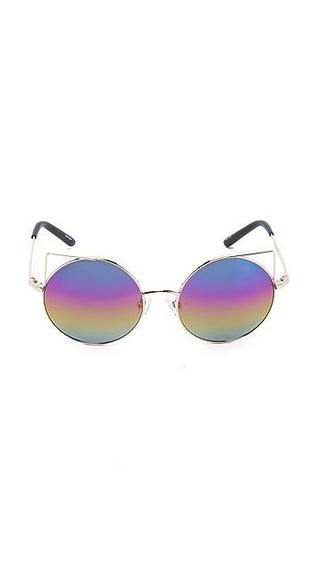 Matthew Williamson Cat Round Sunglasses