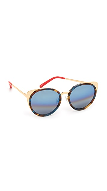 Matthew Williamson Round Cat Eye Sunglasses