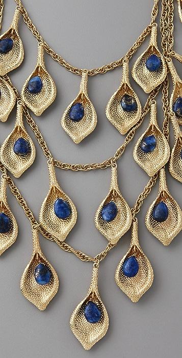 Maven Lapis Petal Necklace
