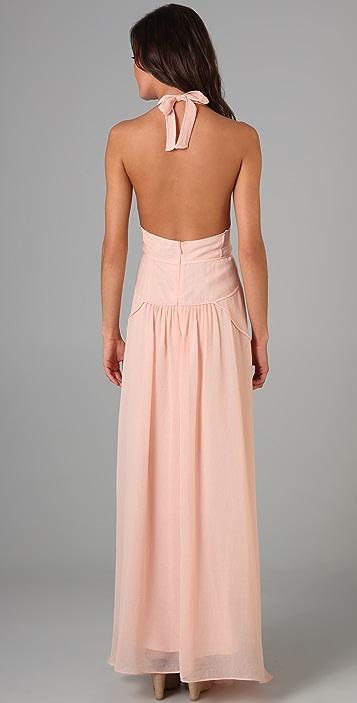 MAXAZRIA Halter Long Dress