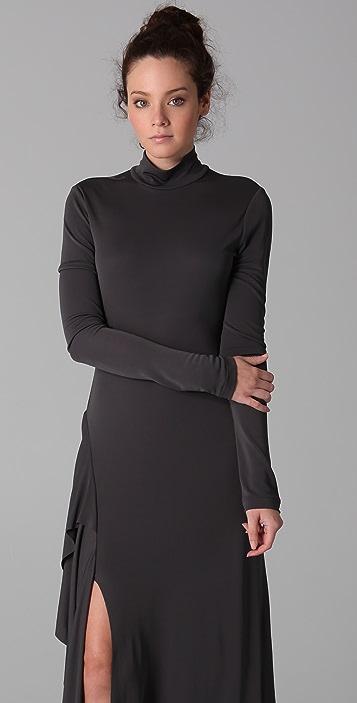 MAXAZRIA Mock Neck Cocktail Dress