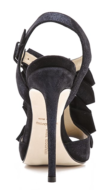Max Kibardin Sling Back Bow Heeled Sandals