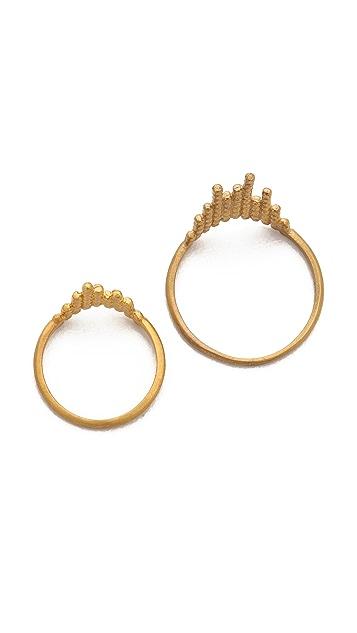 Maria Black Cascade Ring Set