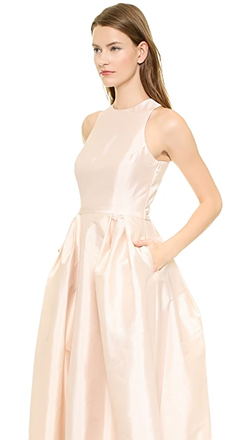 Monique Lhuillier Bridesmaids Cross Back Gown