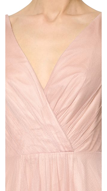 Monique Lhuillier Bridesmaids High Low Tulle Dress