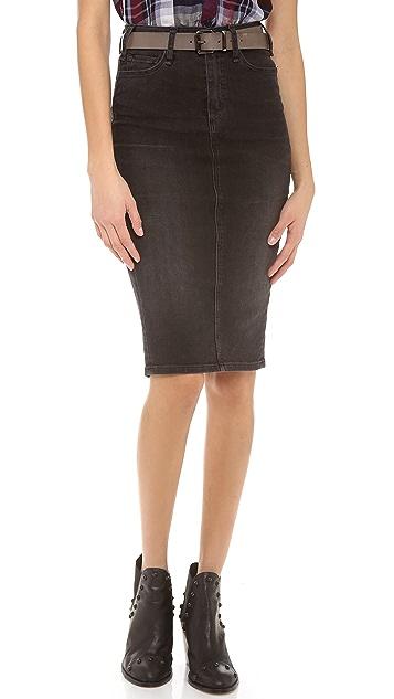 McGuire Denim Denim Pencil Skirt
