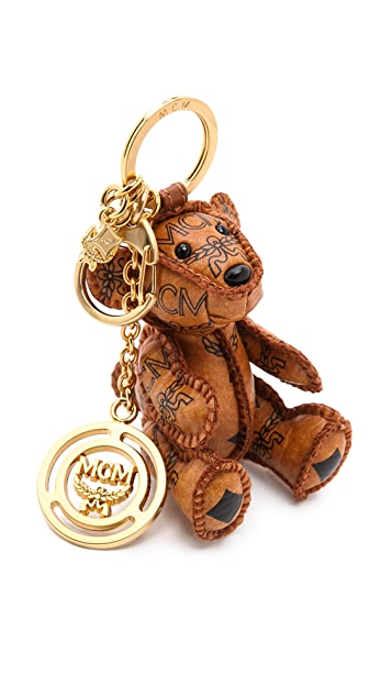 MCM Heritage Bear Charm Keychain