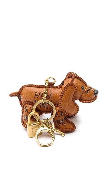 MCM Heritage Dog Charm Keychain