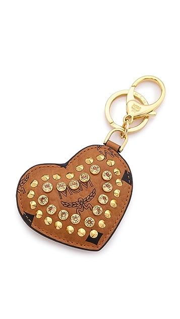 MCM Heart Bag Key Ring