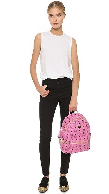 MCM Side Stud Small Stark Backpack