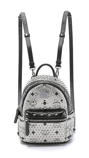 MCM Crystal Stud Baby Stark Backpack