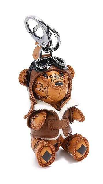 MCM Bear Charm Keychain