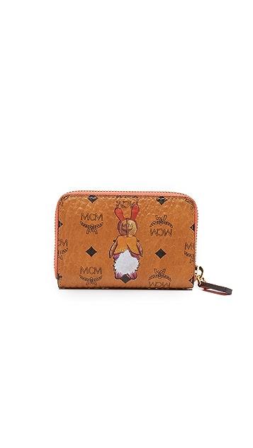 MCM Rabbit Zip Around Card Case